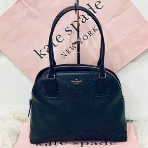 🌸Kate Spade dome shoulder bag soft black leather